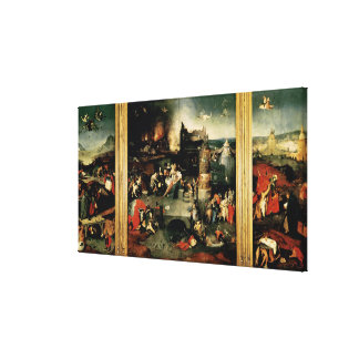 Triptych: The Temptation of St. Anthony Stretched Canvas Print