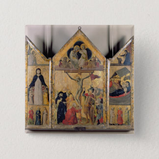 Triptych with Scenes from the Life of the Pinback Button