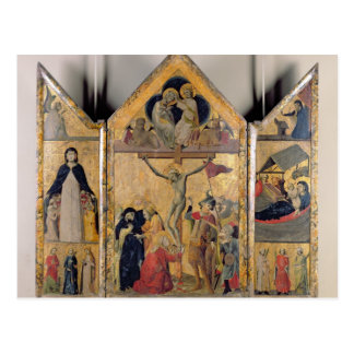 Triptych with Scenes from the Life of the Postcard