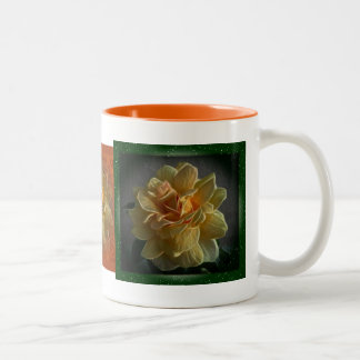 Triptych Yellow Roses Coffee Mug