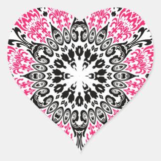 Tripy bandana flowerp heart sticker