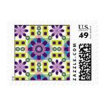 Tripy Flower Pattern Postage Stamp