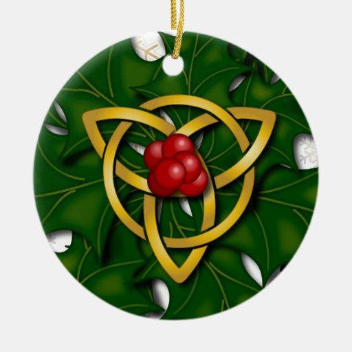 Triquatra y acebo 3 - ornamento ornamento para reyes magos
