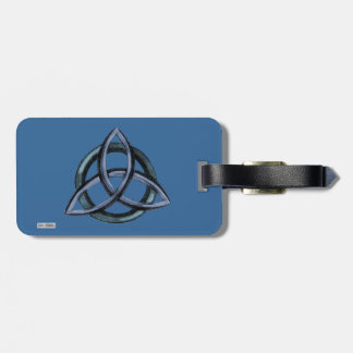 Triquetra (azul) etiqueta de equipaje
