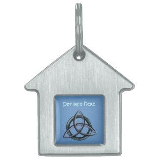 Triquetra (azul) placa de mascota