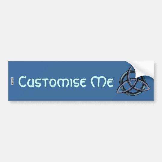 Triquetra (Blue) Bumper Sticker