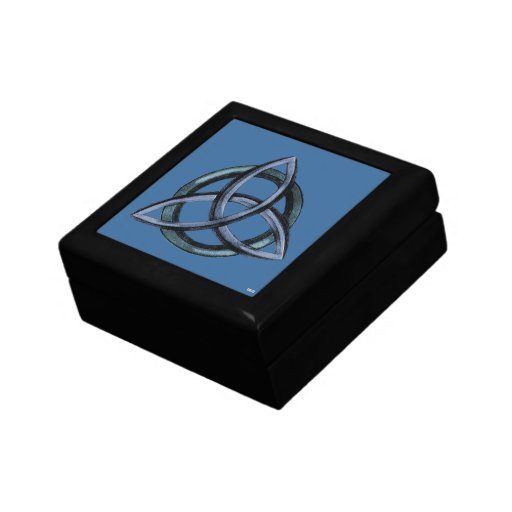 Triquetra (Blue) Keepsake Box