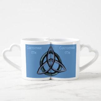 Triquetra (Blue) Couples' Coffee Mug Set