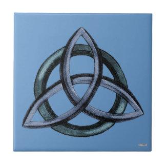 Triquetra (Blue) Tile