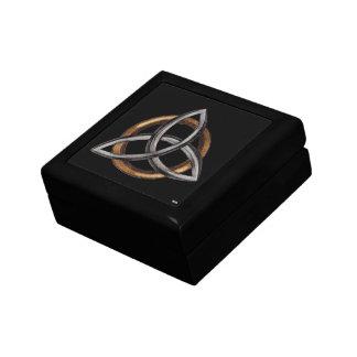 Triquetra (Brown/plata) Caja De Joyas