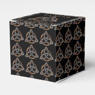 Triquetra (Brown/plata) Caja Para Regalo De Boda
