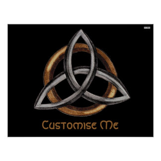 Triquetra (Brown/plata) Posters