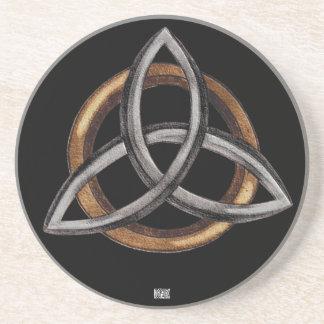 Triquetra (Brown/plata) Posavasos Personalizados