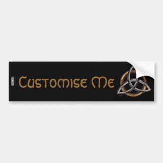 Triquetra (Brown/Silver) Bumper Sticker