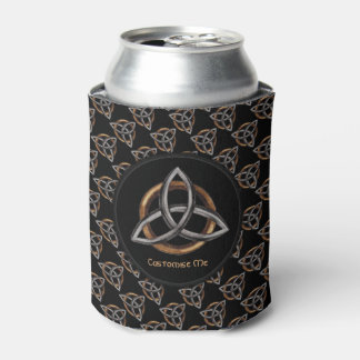 Triquetra (Brown/Silver) Can Cooler
