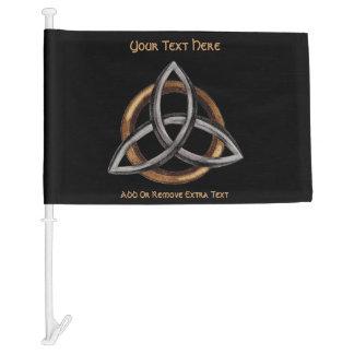 Triquetra (Brown/Silver) Car Flag