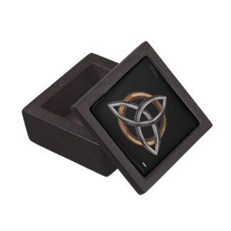 Triquetra (Brown/Silver) Jewelry Box