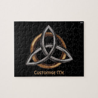 Triquetra (Brown/Silver) Jigsaw Puzzle