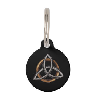 Triquetra (Brown/Silver) Pet Name Tag
