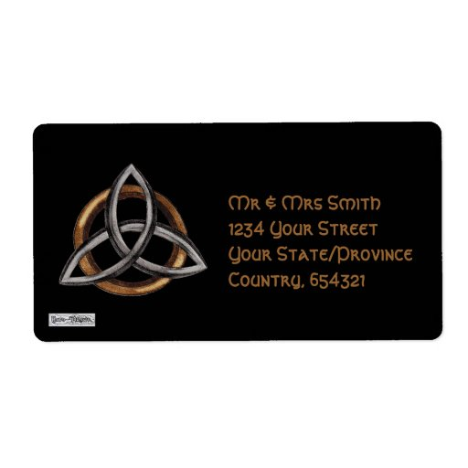 Triquetra (Brown/Silver) Shipping Label
