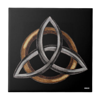 Triquetra (Brown/Silver) Tile