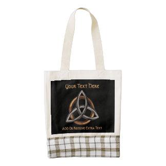 Triquetra (Brown/Silver) Zazzle HEART Tote Bag