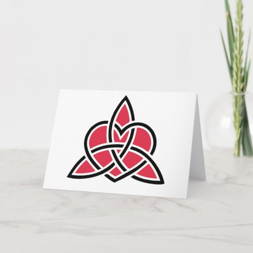 Triquetra Celtic Knot With Heart Symbol