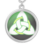 Triquetra Celtic Trinity Knot Silver Plated Necklace