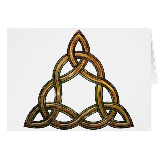 triquetra céltico tarjetón