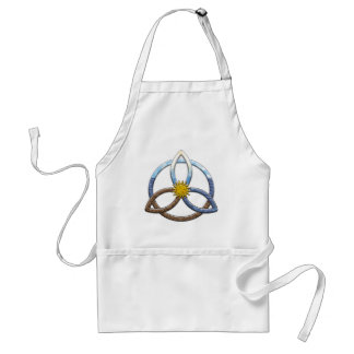 Triquetra Earth Air Water Adult Apron