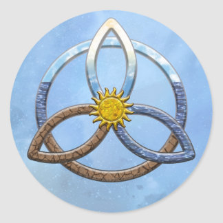 Triquetra Earth Air Water Classic Round Sticker