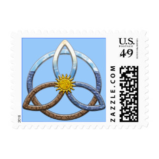 Triquetra Earth Air Water Postage