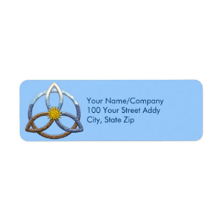Triquetra Earth Air Water Return Address Label