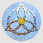 Triquetra Earth Air Water Round Stickers