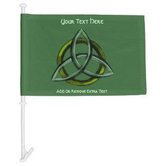 Triquetra (Green) Car Flag