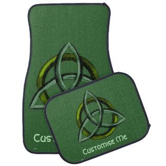 Triquetra (Green) Car Floor Mat