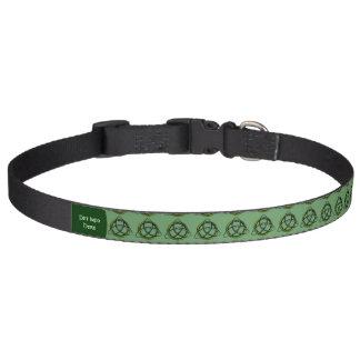 Triquetra (Green) Dog Collar