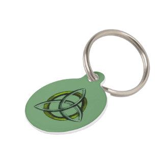 Triquetra (Green) Pet Name Tag
