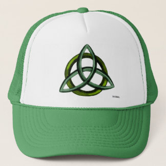 Triquetra (Green) Trucker Hat