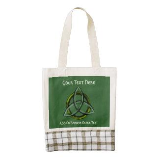 Triquetra (Green) Zazzle HEART Tote Bag