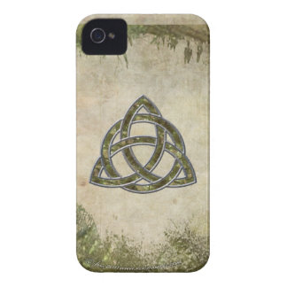Triquetra in Wood iPhone 4 Case-Mate Cases