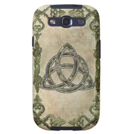 Triquetra in Wood Galaxy S3 Case