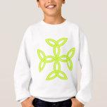 Triquetra Knotwork Cross in Golden Yellow Green Sweatshirt