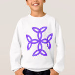 Triquetra Knotwork Cross in Lavender Purple Sweatshirt