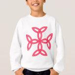 Triquetra Knotwork Cross in Pink Red Sweatshirt