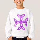 Triquetra Knotwork Cross in Purple Lilac Sweatshirt
