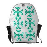 Triquetra Knotwork Crosses in Sage Bright Green Messenger Bag