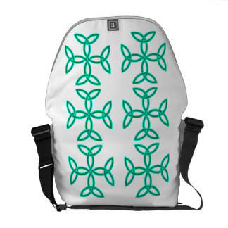 Triquetra Knotwork Crosses in Sage Bright Green Commuter Bags