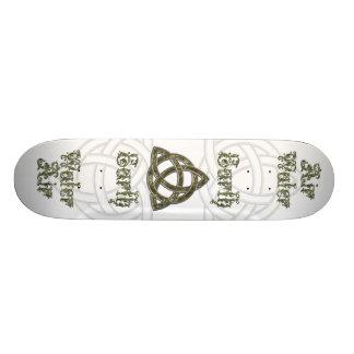 Triquetra Natural Air Earth Water Skateboard Deck