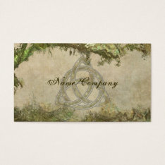 Triquetra Natural Business Card at Zazzle